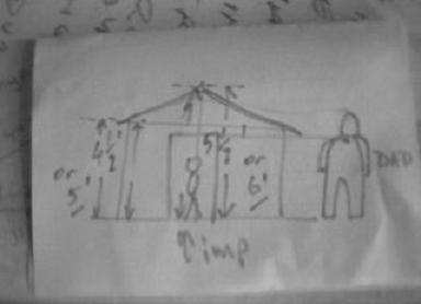 Playhouse design sketch one.